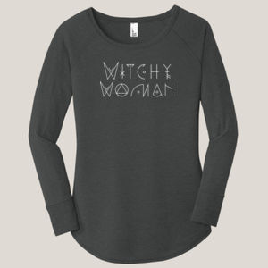 Witchy Woman - Ladies Long Sleeve Tri Blend T Thumbnail