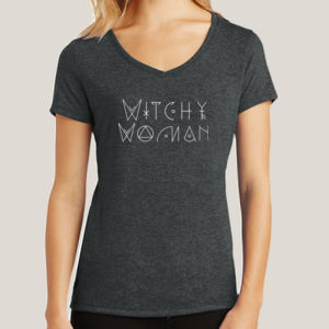 Witchy Woman - Ladies Tri-Blend V-Neck T Thumbnail