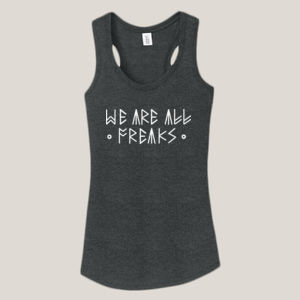 We Are All Freaks - Ladies Tri-Blend Racerback Tank Thumbnail