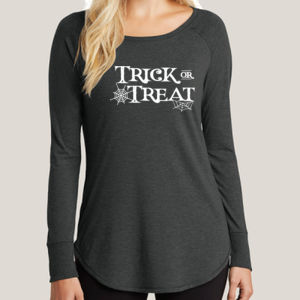 Trick or Treat - Ladies Long Sleeve Tri Blend T Thumbnail