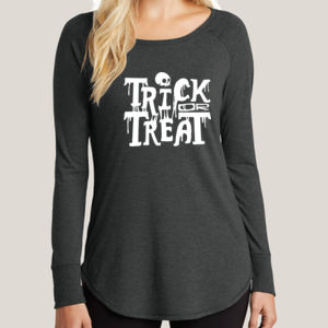Trick or Treat 2 - Ladies Long Sleeve Tri Blend T Thumbnail