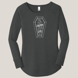 No Such Thing as Death - Ladies Long Sleeve Tri Blend T Thumbnail
