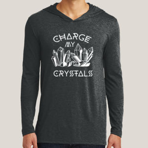Charge My Crystals - Adult Tri-Blend Long Sleeve Hoodie Thumbnail