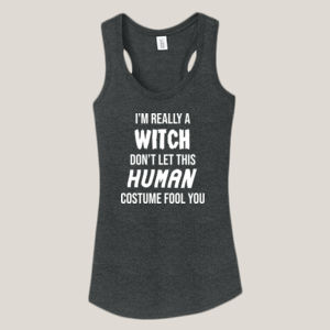 Really a Witch - Ladies Tri-Blend Racerback Tank Thumbnail