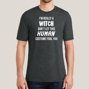 Really a Witch - Adult Soft Tri-Blend T Thumbnail