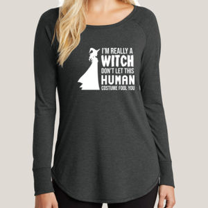 Really a Witch 2 - Ladies Long Sleeve Tri Blend T Thumbnail