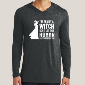 Really a Witch 2 - Adult Tri-Blend Long Sleeve Hoodie Thumbnail
