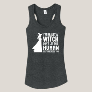 Really a Witch 2 - Ladies Tri-Blend Racerback Tank Thumbnail