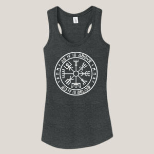 As It Is Above - Ladies Tri-Blend Racerback Tank Thumbnail