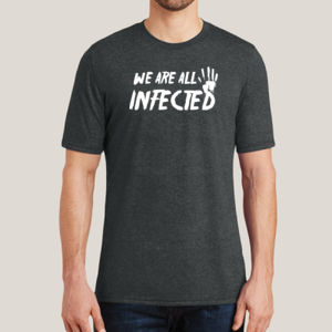 Infected - Adult Soft Tri-Blend T Thumbnail